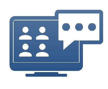 Mit Unternehmensberatung Team Müller per Online-Meeting Besprechungen abhalten